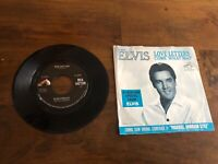 "RARE Elvis Presley With The Jordanaires Come What May/Love Letters 7"" 45"