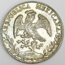1896 Mexico 8 reales CN AM silver coin 26.93 grams choice AU58 or better