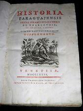 CHARLEVOIX Historia Paraguajensis PARAGUAY ARGENTINE URUGUAY BOLIVIE RARE 1779