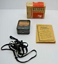 Vintage Weston Junior Exposure Meter Model 850 with manual and box circa 1938