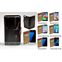 For Samsung Galaxy Series Polygon Infra Red Print Wallet Mobile Phone Case Cover