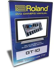 Roland (Boss) GT-10 DVD Video Training Tutorial Help