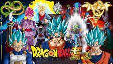 Poster 42x24 cm Dragon Ball Super Gogeta Goku Vegeta Super Saiyan God Blue 01