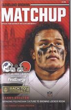 2015 CLEVELAND BROWNS GAMEDAY PROGRAM MATCHUP vs LIONS - NEW DANNY SHELTON 8/20