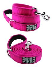 Hubba Puppy Pro Reflective Padded Heavy Duty 6ft Dog Leash Perfect Pink Nylon