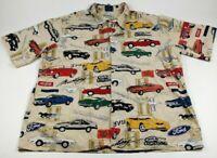 Vtg Reyn Spooner Mens 2XL Mustang Hawaiian Shirt Shelby Cobra American Classic