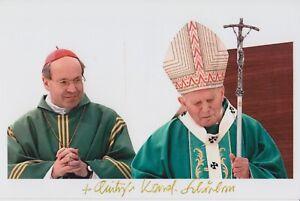 Original signiertes Foto Christoph Cardinal Schönborn - Kardinal Papst JPII