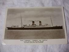 E370 - RMS HIBERNIA CAMBRIA & SCOTIA LMS Scottish FERRY Postcard SCOTLAND