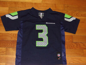NFL SEATTLE SEAHAWKS RUSSELL WILSON FOOTBALL JERSEY BOYS TODDLER LARGE 7 EXC.
