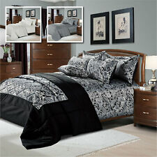 Modern Jacquard Duvet Quilt Cover 3 Piece Bedding Set With Pillowcases All Sizes