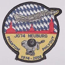 Aufnäher Patch Luftwaffe JG 74 Neuenburg Phantom Phlyout 1974 - 2008 ......A2270