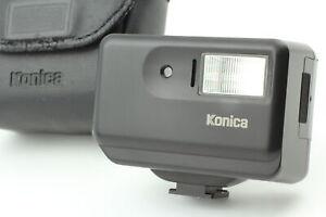 [Near MINT w/Case] Konica HX-14 Black Auto Shoe Mount Flash for Hexar From JAPAN