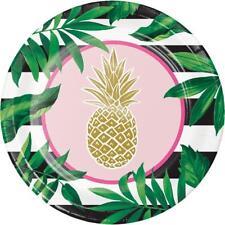 Pineapple Wedding Dinner Plates-(8 count)-NEW
