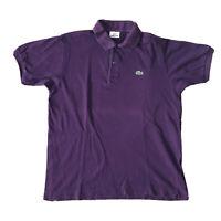 Men's Lacoste Polo Shirt Purple M 4