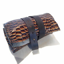 Watch Roll Leather Bag Slots Handmade Storage Travel Case Collectors Mens Pouch