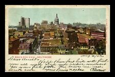 DR JIM STAMPS US BIRDS EYE VIEW BALTIMORE MARYLAND VIEW POSTCARD