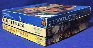 Lot 3 Vintage EATON Milton Bradley MB Jigsaw Puzzles COMPLETE 1980s