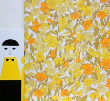 Papier peint vintage 1970 fleurs jaunes rouleau neuf
