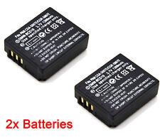 2x DMW-BCD10 Battery For Panasonic Lumix DMC-TZ1 DMC-TZ2 DMC-TZ3 DMC-TZ4 DMC-TZ5