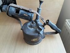 Vintage Uncleaned Brass Blow Lamp.