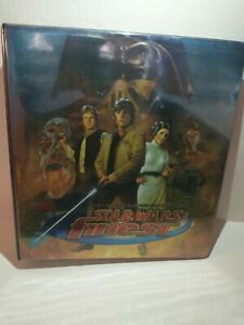 1996 Topps Star Wars finest 90 chromium card set with binder and bonus cards