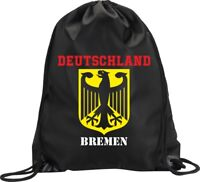 BACKPACK BAG BREMEN GERMANY GYM HANDBAG FLAG SPORT