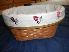 New Oval Basket Fall Halloween Harvest Changeable Liners Thanksgiving