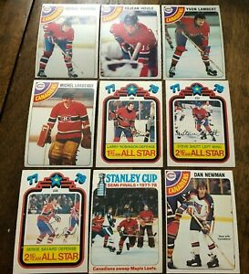 1978-79 O-Pee-Chee  MONTREAL CANADIENS 9 card team lot
