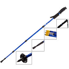 Anti Shock Hiking Walking Trekking Trail Poles Stick Adjustable Canes 4-section