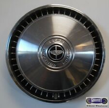 """'76-'89 FORD F150, F250, F350, 15"""" USED HUBCAP, BLACK CENTER, CHROME LOGO, 958a"""