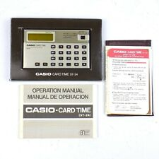 Casio Card Time Electronic Calculator Model ST 24 Vintage