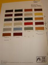 1984 Buick Chevrolet Oldsmobile Pontiac RM Color Chips
