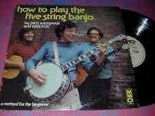 DICK WEISSMAN Dan Fox 5 String Banjo INSTRUCTION LP 74