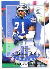 TIKI BARBER 1997 STRONGBOX AUTOGRAPHED COLLECTION ROOKIE CARD! NEW YORK GIANTS!