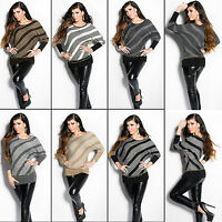 Top Women Jumper Dress Ladies Blouse Clubbing Party Knitted Shirt Size 6 8 10 12