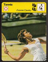 EVONNE CAWLEY Australia Tennis Player Photo 1978 SPORTSCASTER CARD 49-20B
