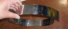 cintura gioiello schiava  alta 4,5 cm lunga 80 cm  bagno argento anche su misura