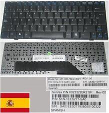 Qwerty Keyboard Spanish MSI Wind U100 U110 MP-08A76E0-3594 V022322BK2 SP Black