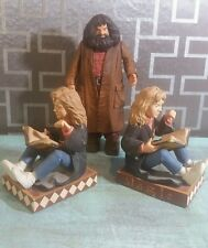 Harry Potter Hermione Granger MAGIC Bookends Set 2000 Harry Potter & Hagrid fig.