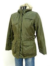 Marie Lund Inverno Giacca Taglia 36 Verde/& come nuovo-con cappuccio (K 4553)