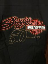 Rare 1990 Harley-Davidson 50th Sturgis Rally Button Down Shirt Size S, Nwot