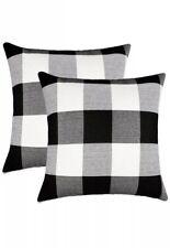 Pillow Case Cover Set of 2 18x18 Fall Home Decor/Farmhouse/Clearance/plaid/throw