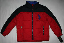NEW Ralph Lauren Boys Jacket size 5 Puffer Big Logo Red Navy Blue Coat $175