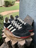 Vintage Adidas ADI Speed Black & White Suede Shoes Sneakers Womens Size 10