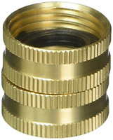 Heavy Duty Hose Connector Double Female Swivel Brass 3/4 inch NH x 3/4 inch NH