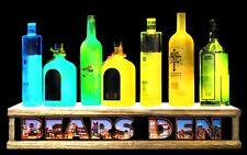 """24"""" Led Lighted Liquor Bottle Display chicago skyline Bears Den bar sign"""
