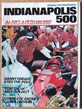 OFFICIAL PROGRAM ~ 1978 INDIANAPOLIS 500 ~ CORVETTE INDY PACE CAR