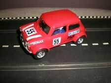 """Scalextric Mini Cooper """"Sonax"""" (Red) - V/G Condition  Unboxed Used C2103W"""