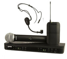 NEW Shure BLX1288/P31 Dual Headset Handheld UHF Wireless Microphone System H10