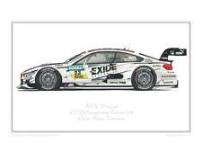 BMW M4 Coupé 2014 DTM Wittmann Limited Edition Classic Race Car Print Poster